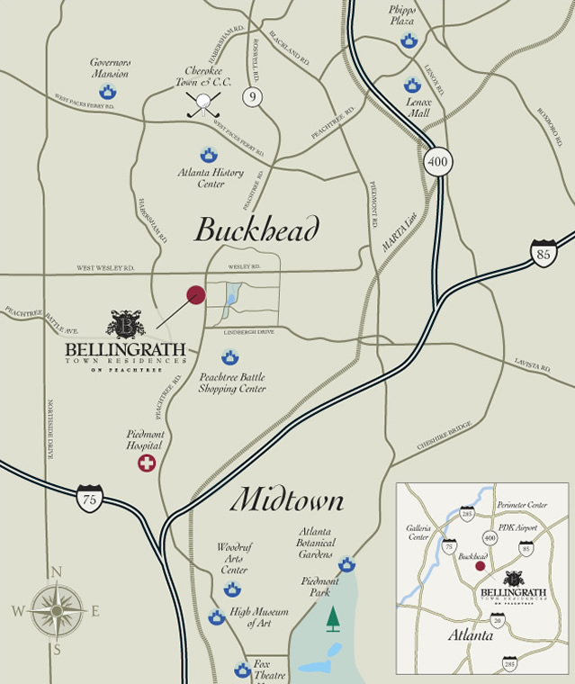 Bellingrath Town Residences located in Buckhead